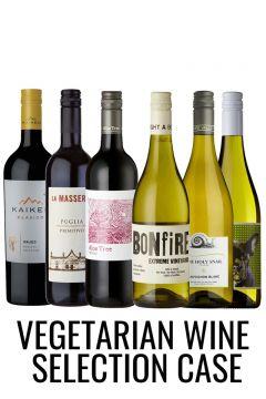 Vegetarian wine selection case from Lekker Wines